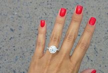 #NailTastic / What better way to highlight your engagement ring then with the perfect manicure.