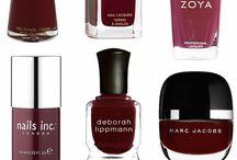 Make-up & Nails // Marsala