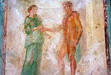 Miti affreschi pompeiani