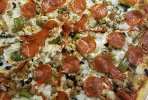 #tourdelicious handtossed pizza! / Fresh ingredients!  Cooked in our stone brick ovens!