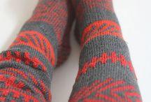 Eco Ethno Knitwear / Wool leggings and socks
