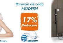 Paravane Aquaform / In perioada 8-22 Septembrie am pregatit oferta aceasta: - 17 % Reducere la Paravane de cada, Aquaform, MODERN Va asteptam! http://www.e-baie.ro/