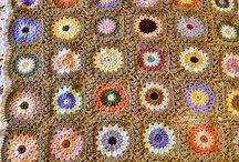 Crochet afghan throws