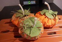 Halloween: zucche di stoffa