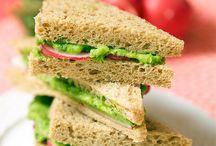 Healthy Vegetarian Lunch Sandwiches