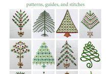 hafty wzory świąteczne