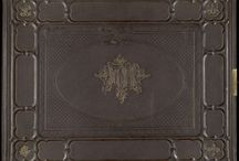'LE', Lemberg Eisenbahn / A portfolio of photographs housed in an elaborate brown gilt embossed case with the initials, 'LE' in the center, for Lemberg Eisenbahn, and held by the DeGolyer Library, Southern Methodist University.