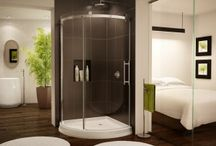 Glass Showers & Bases / These unique shower and tub enclosures add style and function to a bath or shower space whether you're on a tight budget or want a high end luxury space.