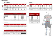 Sizing Charts / A collection of Cycling apparel Size Charts ;   Hill Killer, Louis Garneau, Castelli, Primal Wear, VOMax, FOX, Canari, Smart Wool manufacturers. / by Cyclegarb.com