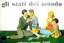 """Collezioni-Gli Stati del Mondo / Riproduzione della collezione completa """"Gli Stati del Mondo"""", composta di 100 figurine cartonate. Italia 1959-60"""