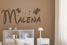 Vinilos decorativos con nombres / Vinilos decorativos con nombres, para decoración de paredes de habitaciones infantiles con los nombres personalizados de tu niño