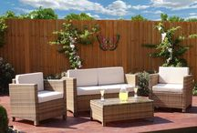 Family Garden Set Outdoor Home Furniture Rattan Table Sofa Chairs Brown Modern