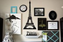 My new room / Blue black and white Paris