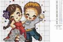 Cross stitch - dance