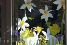 wiosna papier kwiaty