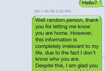 wrong number funny text's