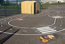 Bike and cycle tracks for school playgrounds