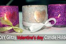 Helpmebuild.com - DIY Glitzy Valentine's Day Candle Holder