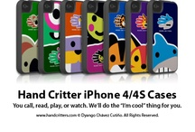 iPhone Cases / Add some fun to your phone! Protect and personalize your iPhone with a stylish and colorful case featuring your favorite animal or fantasy creature. See the whole collection at www.handcritters.com / by Hand Critters