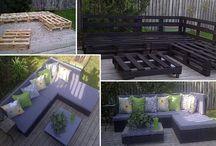 Wood pellet furniture