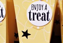 SU Popcorn Treat Box Thinlits / Fun projects created featuring the Stampin' Up! Popcorn Box Thinlits Dies. Carol Lovenstein www.pinkstampagne.com