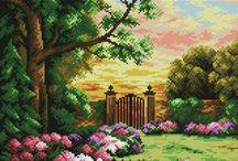 Haft Krzyżykowy - Ogród