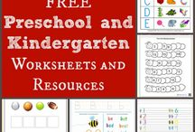 kindergarten worksheets/activities