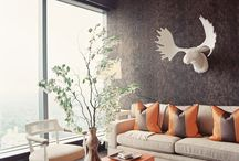 autumn and winter decor / Interior design and decor that draws upon the varying tones of Fall/Autumn and Winter and layers them upon hints of the natural world!