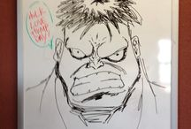 Office Whiteboard Art / This is what happens when you have a comic book artist in residence and a whiteboard in the office of the Napa Valley Wine Train. / by Napa Valley Wine Train