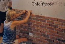 DIY - bakstenen muur