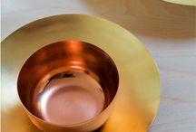 Koper & Oranje / Interieur ideeën met de kleur koper als hoofdelement
