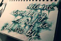 Lyrics / by Hush Vanessa