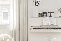 Upright Piano Ideas / Inspiration for having an upright piano in the home.