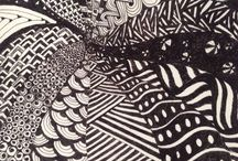 DeeTangle. / Zentangle, Doodling, Painting, Sketching, Pencil shading.
