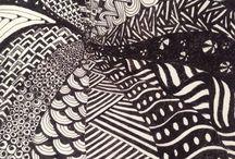 DeeTangle. / Zentangle, Doodling, Painting, Sketching, Pencil shading.