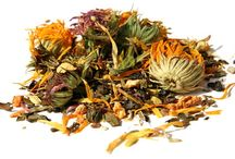 Herbal Tea / Herbal tea is made from many plants, using not just the leaves, but also the flowers, roots, bark and seeds. These teas are preferred for their physical or medicinal effects, especially for their stimulant, relaxant or sedative properties. http://theteasupply.com/store/category/herbal-tea/