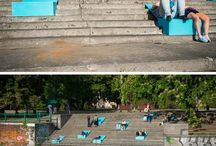bancos para escadas