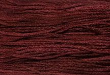 Weeks Dye Works Threads / Hand over dyed thread is perfect for Cross Stitch, Punch Needle, Embroidery and all hand Stitchery. The colors are variegated enough to be noticeable, yet subtle enough to blend naturally.