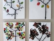 Twig Art on Canvas (tree twigs &/or sticks)