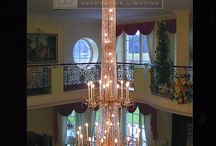 Staircase Chandeliers / Chandeliers we have designed for Staircases or Galleries