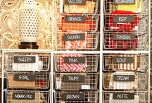 Sewing room organization / Tips for storage organization, and quick guides  / by Michelle @ latenightquilter.com