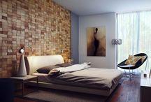 Paredes / Paredes - ideas de como pintar paredes que papel de pared usar decoración de pared y tejido para pared. Ideas para paredes de ladrillo, paredes de hormigón o de madera.