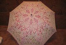 Paraguas tejido