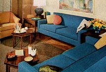 Mid century influence in furniture and decor / Things that give a nod to mid century 1960-70 furniture and decor.