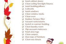 Fall Cleaning / Great checklists for fall cleaning and organizing / by Hillary Humberson | Author, Photographer, Gardener, Bible Study AND Food Junkie!