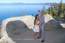 Vista Point Wedding Venue in Lake Tahoe / This stunning Nevada location will leave you breathless ! Vista Point on Lake Tahoe is a majestic rock and tree framed oasis high above the world.  Huge rock boulders, Tamarack Pines and crystal blue waters live in harmony with nature and wildlife in this dreamlike setting.  Your wedding ceremony will be held above the water as you look out at the spectacular views. This is truly what you imagine a Lake Tahoe destination wedding to be.