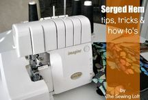 Serger tips / Want to know more about how to use a serger or overlocker?  Here you'll find all the best blogger content on serger tips, tricks and techniques.  What to look for when buying a serger, through getting started and the basics and even advanced stitch guides and serger techniques.