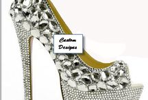 Wedding Bridal Shoes / The board gives a colorful view of awesome Prom Shoes, Bridal Heels, Bling Rhinestone Pumps. You can find pretty much anything and everything bling on this board but just placed so lovely on a pair of heels/pumps. Eshays, LLC