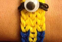 minion armband loom