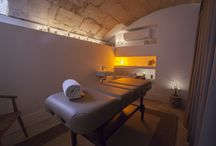 A unique spa in Majorca / Our spa: located in the former 16th-century grain store, we offer a small heated swimming pool, solarium, sauna and treatment room. The swimming pool area and sauna can also be reserved for private use. There are a range of full-body, facial and massage treatments on offer to help you wind down after a day of sightseeing around the city.  www.posadaterrasanta.com